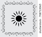 sun icon  sunshine vector... | Shutterstock .eps vector #708713065