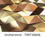 abstract metal background.  3d... | Shutterstock . vector #708718606