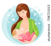 circle icon depicting mother... | Shutterstock .eps vector #708721015