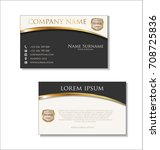 elegant business card design... | Shutterstock .eps vector #708725836