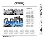 working in industrial factory... | Shutterstock .eps vector #708727696