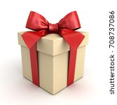 gift box   present box with red ... | Shutterstock . vector #708737086