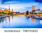 zurich  switzerland. view of... | Shutterstock . vector #708741832