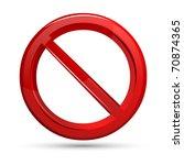 Illustration Of Prohibited Sign ...