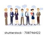 business people with speech...   Shutterstock .eps vector #708746422
