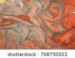 orange grey daubs gouache | Shutterstock . vector #708750322
