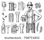 a man in traditional belgian or ... | Shutterstock .eps vector #708751852