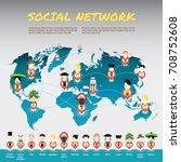 the world 14 nationalities...   Shutterstock .eps vector #708752608