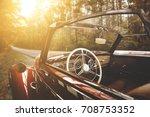 autumn car on road  | Shutterstock . vector #708753352