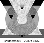 abstract composition with... | Shutterstock .eps vector #708756532