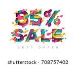 paper cut 85 percent off. 85 ...   Shutterstock .eps vector #708757402