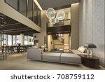 3d rendering luxury and modern...   Shutterstock . vector #708759112