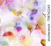 floral background. watercolor... | Shutterstock . vector #708762265