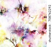 floral background. watercolor... | Shutterstock . vector #708762292