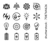 energy  electricity icons | Shutterstock .eps vector #708764626