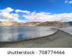 'pan gong lake'  leh | Shutterstock . vector #708774466