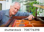 elderly music instrument... | Shutterstock . vector #708776398
