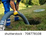 Emptying Household Septic Tank. ...