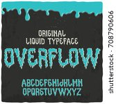 original label font named ... | Shutterstock .eps vector #708790606