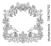 adult color new zealand kiwi... | Shutterstock .eps vector #708793732
