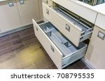 opened kitchen drawer with... | Shutterstock . vector #708795535