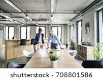 two business people in the... | Shutterstock . vector #708801586