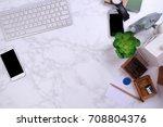 mock up smartphone with...   Shutterstock . vector #708804376