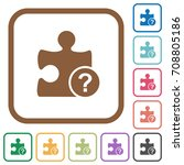 unknown plugin simple icons in... | Shutterstock .eps vector #708805186