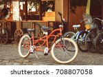 Retro Style Tandem Bicycle