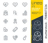 lineo editable stroke   medical ... | Shutterstock .eps vector #708807226