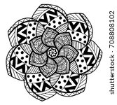 mandalas for coloring book.... | Shutterstock .eps vector #708808102