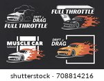 set of muscle logo  badges and... | Shutterstock . vector #708814216