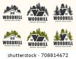 logo design of a trees... | Shutterstock . vector #708814672