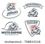 vintage cafe racer motorcycle... | Shutterstock . vector #708815218