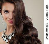 perfect woman fashion model... | Shutterstock . vector #708817186