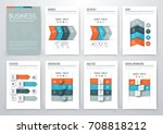 set with infographics. data and ... | Shutterstock .eps vector #708818212