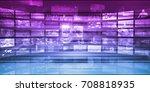 global digital technology... | Shutterstock . vector #708818935