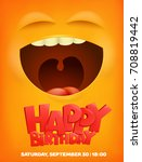 happy birthday greeting card... | Shutterstock .eps vector #708819442