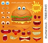creation kit of emoticon... | Shutterstock .eps vector #708819445