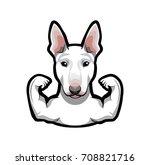 bull terrier. bullterrier dog... | Shutterstock .eps vector #708821716