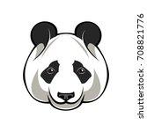cartoon animal  cute panda bear ... | Shutterstock .eps vector #708821776