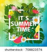 summer abstract background ... | Shutterstock . vector #708823576
