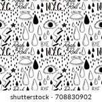 abstract trendy pattern with... | Shutterstock . vector #708830902