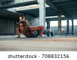 shot of a determined athlete... | Shutterstock . vector #708832156