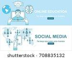 online education concept in... | Shutterstock .eps vector #708835132