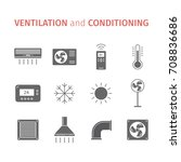 ventilation and conditioning.... | Shutterstock .eps vector #708836686