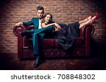 beautiful gorgeous couple in... | Shutterstock . vector #708848302