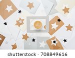mail correspondence background... | Shutterstock . vector #708849616