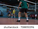 full length of players... | Shutterstock . vector #708850396