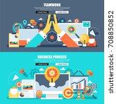 flat concept web banner of... | Shutterstock .eps vector #708850852